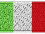 Ricamo Bandiera Italia (3 pezzi) per uniforme