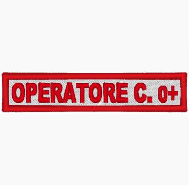 Ricamo Etichetta C.R.I. nominativo