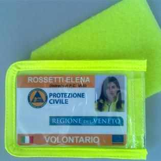 Porta-badge / Porta-tessera con velcro